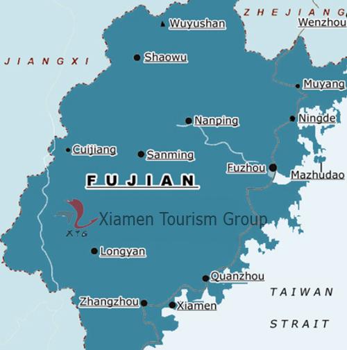Xiamen China Map.Fujian Tours China Tours Destination Guide Hotel Xiamen Tourism Group